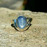 Cincin Ladies Natural Blue Sapphire