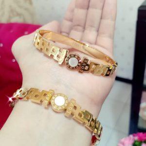 gelang gold plated premium love
